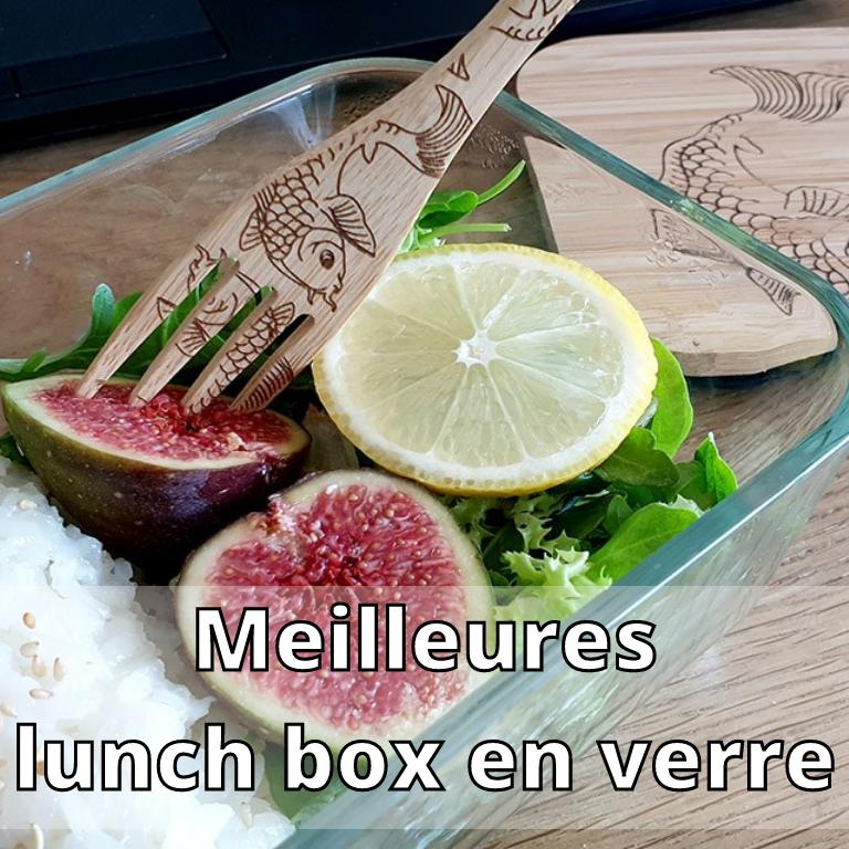 Meilleures lunch box en verre compartimentée